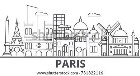 paris architecture line skyline