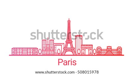 paris city colored gradient
