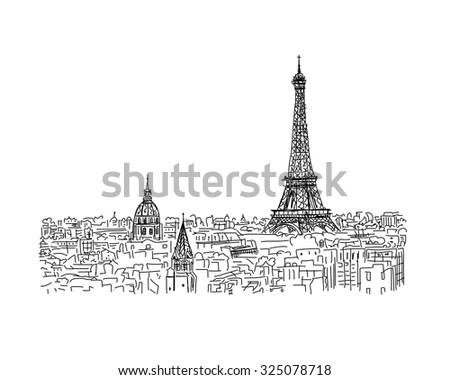 paris  cityscape with eiffel