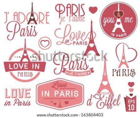 paris   eiffel tower badges and