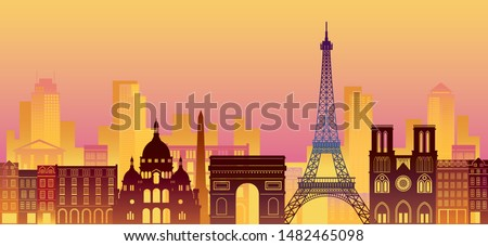 paris  france landmarks skyline