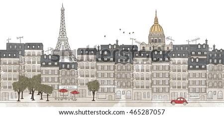 paris  france   seamless banner