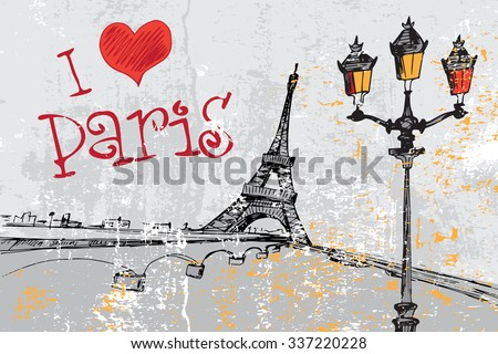 paris grunge background with
