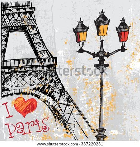 paris grunge background with