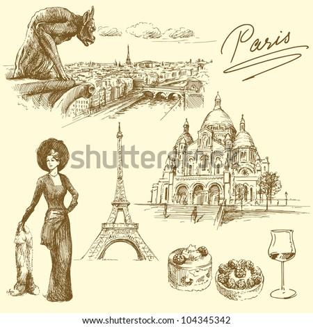 paris   hand drawn collection