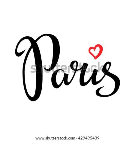 paris hand drawn vector