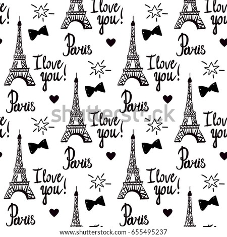 paris i love you illustration