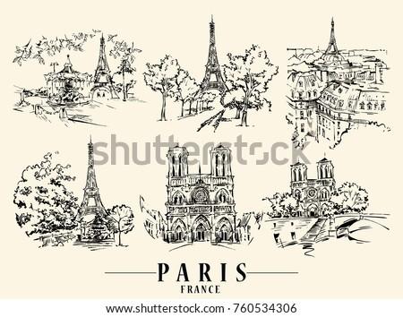 paris illustration ink and pen