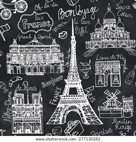 paris landmark lettering