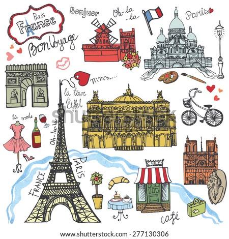 paris landmark lettering set