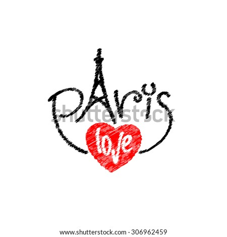 paris letters text logo with