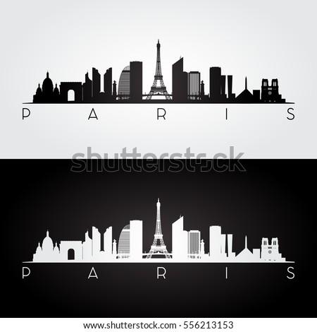 paris skyline and landmarks