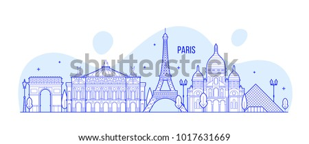 paris skyline  france this