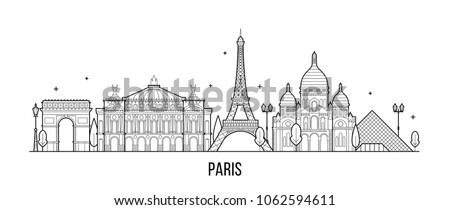 paris skyline  france this