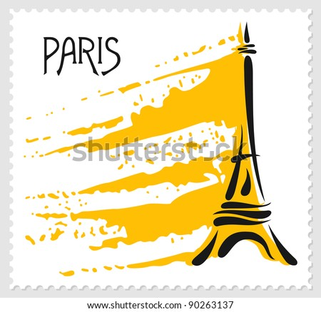 Paris theme post mark