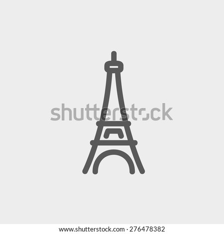 paris tower icon thin line for