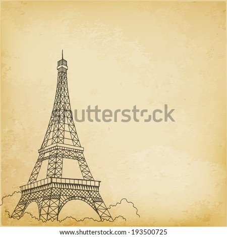 paris  vector hand drawing