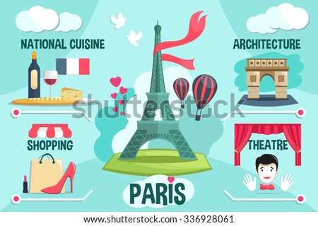 paris vector infographic