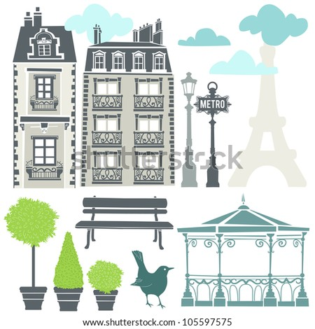 Parisian elements - EPS 8 vector file