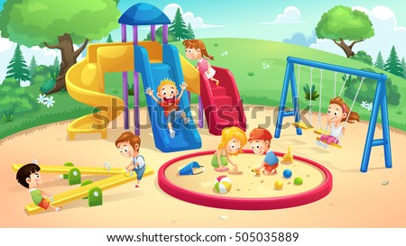 park and playground cartoon ...