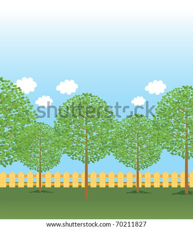 park background - stock vector
