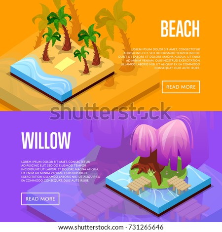 park design isometric posters