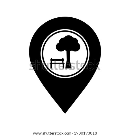 park or rest area location icon