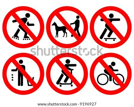 Park rules no cycling, skating, littering, skate boards