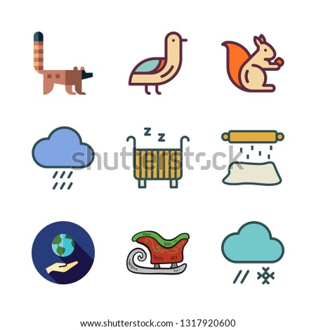 park vector icon set