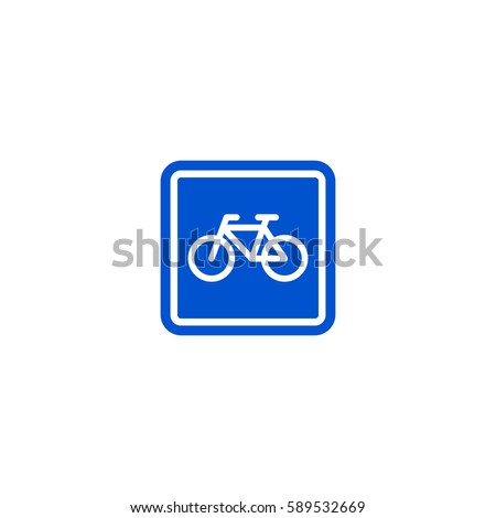 parking bicycle roadsign