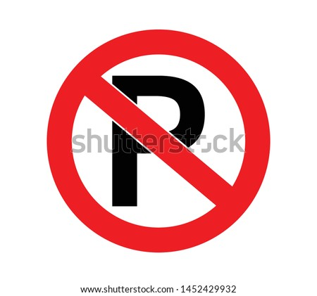 parking forbidden sign for