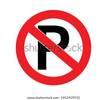 parking forbidden sign for