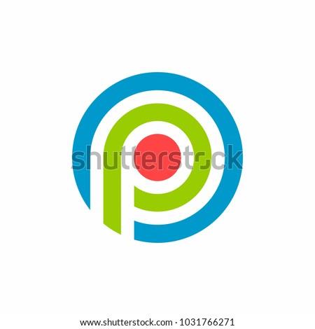 Parking Line target Logo Icon