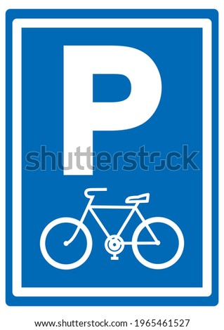 parking lot for bicycles  road
