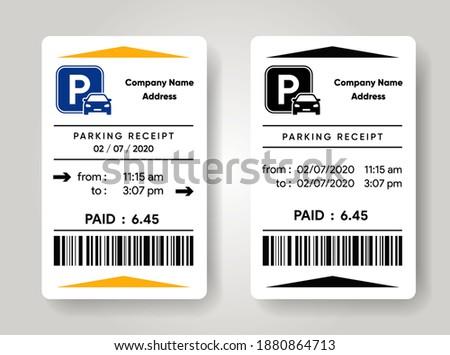 parking receipt template check