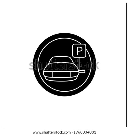 parking symbol glyph icon car