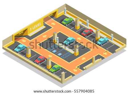 parking underground isometric