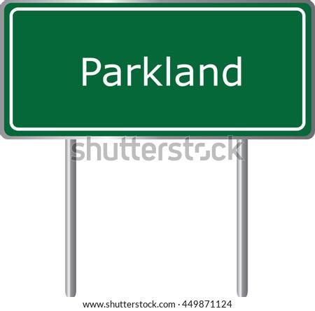 parkland   florida  road sign
