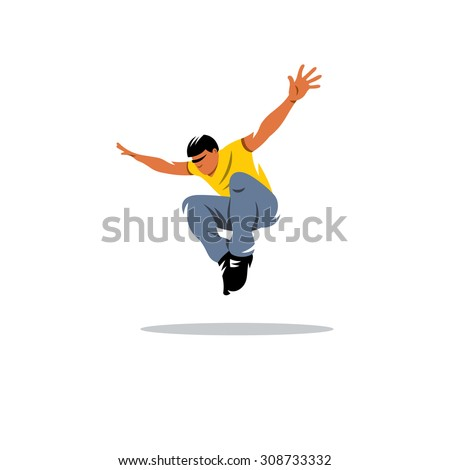 parkour athlete jumping sign