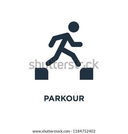 parkour icon black filled