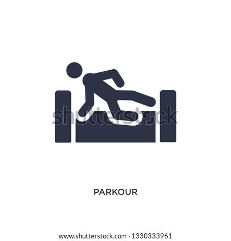 parkour icon simple element