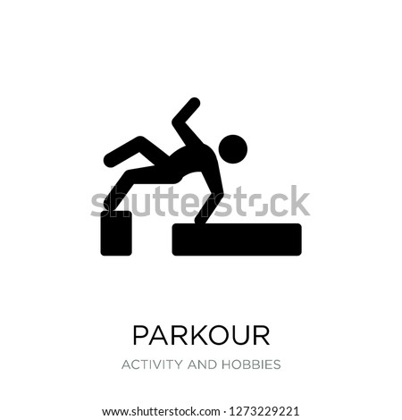parkour icon vector on white