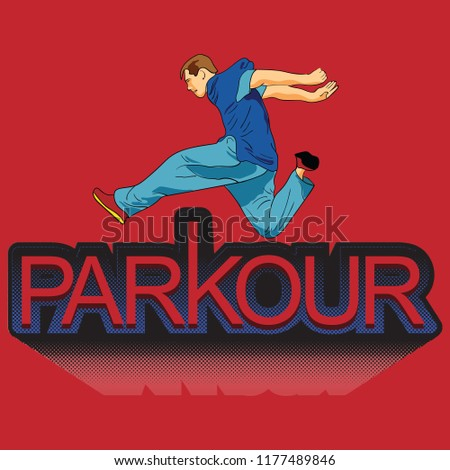 parkour is a man leap forward
