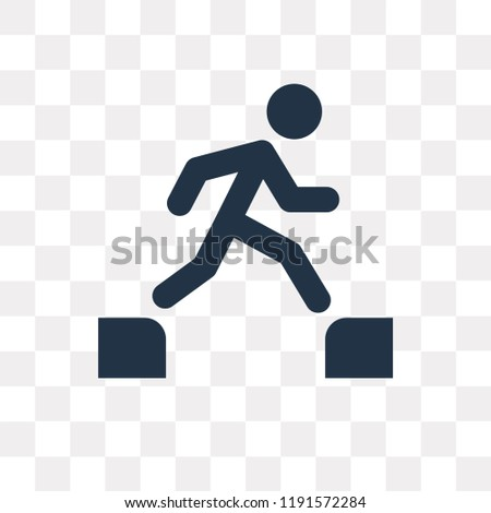 parkour vector icon isolated on