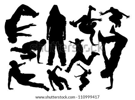 parkour vector silhouette - stock vector