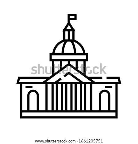 parlament building line icon