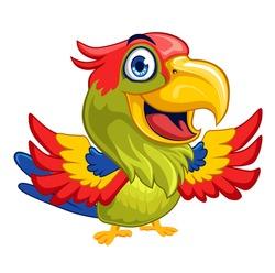 parrot bird mascot cartoon in vector