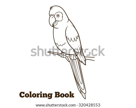 parrot cartoon coloring book