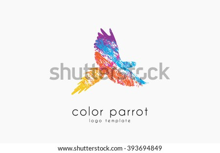 parrot logo design color