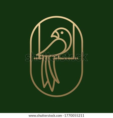 parrot one line vector logo